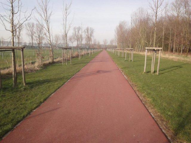 rood fietspad